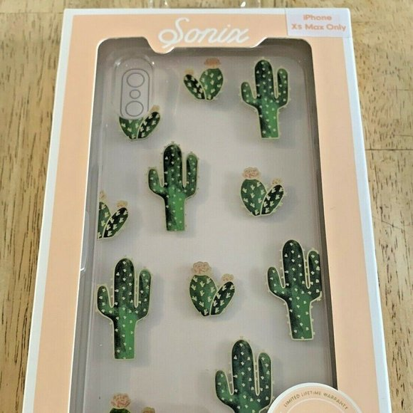 Sonix Apple iPhone XS MAX Clear Prickly Pear Case